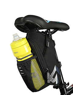 cheap Bike Bags-ROSWHEEL Bicycle Saddle Bag With Water Bottle Pocket Waterproof MTB Bike Rear Bags Cycling Rear Seat Tail Bag Bike Accessories