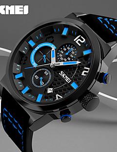 billige Modeure-Herre Quartz Digital Digital Watch Armbåndsur Smartur Militærur Sportsur Kinesisk Kalender Stor urskive Ægte læder Bånd Vedhæng Kreativ