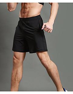 billiga Träning-, jogging- och yogakläder-WOSAWE Herr 1 st Joggingshorts / Split shorts för jogging - Svart sporter Shorts Fitness, Gym, Träna Sportkläder Fitness, Löpning & Yoga, Snabb tork, Andningsfunktion Elastisk