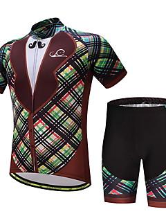 abordables -Maillot et Cuissard de Cyclisme Homme Vélo Ensemble de Vêtements Ventilation Séchage rapide Poche arrière Printemps/Automne Eté