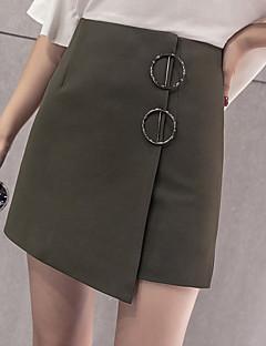 Ženske Slim Ležerno/za svaki dan Iznad koljena Suknje Jednobojni Ljeto