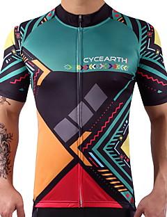 Pyöräily jersey Miesten Naisten Lyhythihainen Pyörä Jersey Nopea kuivuminen Kevyt Vähentää hiertämistä Erittäin elastinen Elastaani 100%