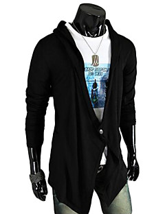 Men's Athleisure Active Long Cardigan,Solid V Neck Long Sleeve Organic Cotton Spring Summer Medium Micro-elastic
