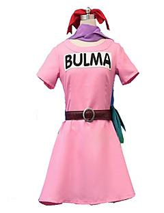 """billige Anime Kostymer-Inspirert av Dragon Ball Cosplay Anime  """"Cosplay-kostymer"""" Kjoler Helfarge Kortermet Kjole Til Dame"""