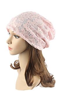 billige Hatter til damer-Dame Hodeplagg / Chic & Moderne / Strikketøy Beanie Hatt / Solhatt - Blonde, Jacquardvevnad Bomull / Blonder / Søtt