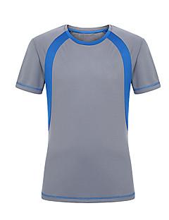 tanie Koszulki turystyczne-Męskie Tričko na turistiku Na wolnym powietrzu Quick Dry Zdatny do noszenia Filtr przeciwsłoneczny T-shirt Topy Camping & Turystyka