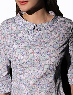 Bluse/Skjorte Klassisk og Traditionel Lolita Vintage Inspireret Cosplay Lolita Kjoler Blå Rød Grøn Kaffe Trykt mønster Vintage Lolita Top