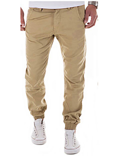 Men Mid Rise Micro-elastic Skinny Slim Chinos Pants,Chinoiserie Skinny Slim Chinos Pure Color Solid