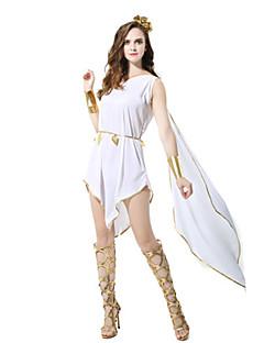 billige Halloweenkostymer-Eventyr / Romerske Kostymer / Gudinne Cosplay Kostumer / Party-kostyme Dame Halloween / Karneval Festival / høytid Halloween-kostymer Hvit