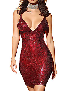 womens sequins party club new year eve sexy mini bodycon dress solid colored sequins open back glitter strap summer blue gold red m l xl skinny