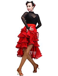 Latin tánc Női Fellépés Tüll Mlječna vlakna 1 darab Szoknyák
