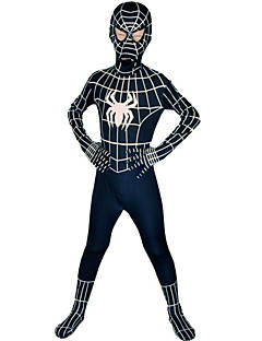 Super Heroes Spider Zentai Suits Movie Cosplay Black Zentai Halloween Lycra