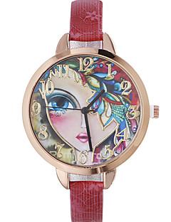 Mulheres Relógio de Moda Relógio de Pulso Quartzo Couro Banda Boêmio Preta Vermelho Marrom Dourada Azul Marinho Rose