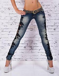 Χαμηλού Κόστους Παντελόνια Φούστες-Γυναικεία Βίντατζ / Κομψό στυλ street Σκίνι Παντελόνι Μονόχρωμο / Αργίες / Εξόδου / Κλαμπ