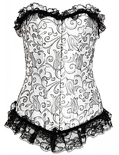 LuckyOne Women Overbust CorsetOrganic Cotton Hook & Eye