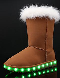 Fete Pantofi Piele nubuc Iarnă Cizme de Zăpadă Pantofi Usori Cizme pentru Casual Rochie Negru Gri Maro Roz