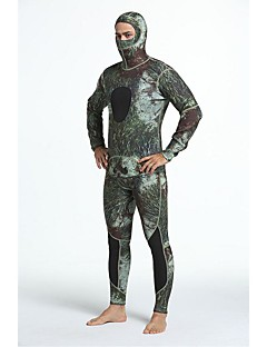 Herre 3mm Heldekkende våtdrakt Anatomisk design Solkrem Fermer le corps Chinlon Dykkerdrakt Langermet Dykkerdrakter-Dykking SurfingAlle