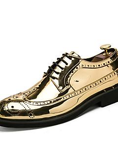 Erkek Ayakkabı Sentetik Mikrofiber PU Bahar Sonbahar Biçimsel Ayakkabı Dalış Ayakkabıları Oxford Modeli Bağcıklı Uyumluluk Düğün Günlük