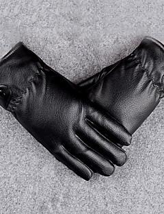 Men's Genuine Leather Fur Wrist Length Fingertips,Windproof Keep Warm Waterproof High Quality Fashion General Purposes & Work Gloves