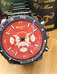 billige Rustfrit stål-JUBAOLI Herre Quartz Armbåndsur Sportsur Kinesisk Stor urskive Rustfrit stål Bånd Afslappet Mode Sej Sort