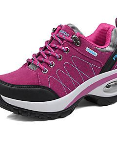 hesapli -Kadın Ayakkabı Süet Kış Sonbahar Rahat Atletik Ayakkabılar Dağ Yürüyüşü Dolgu Topuk Yuvarlak Uçlu Atletik Günlük için Malzeme Kombini