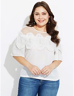 billige T-shirt-Dame - Ensfarvet Bomuld T-shirt