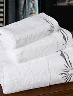 バスタオルセット,刺繍 高品質 コットン100% タオル