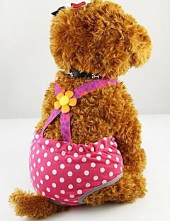 billiga Hundkläder-Hund Byxor Hundkläder Ledigt/vardag Polka dots Kostym För husdjur