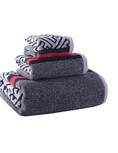 Frischer Stil Badehandtuch Set,Streifen Gehobene Qualität 100% Baumwolle Handtuch