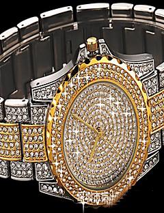 女性用 ファッションウォッチ ブレスレットウォッチ ダミー ダイアモンド 腕時計 宝飾腕時計 日本産 クォーツ 多色 模造ダイヤモンド ステンレス バンド 光沢タイプ 水玉柄 チャーム カジュアルスーツ 創造的 ラグジュアリー エレガント腕時計 シルバー ゴールド