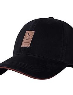 Herren Hut Frühling/Herbst Baumwolle Baseball Kappe,Solide Weiß Schwarz Beige Marineblau Grau