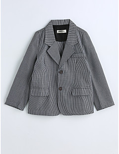 Boys' Houndstooth Suit & Blazer,Cotton Spring Fall Long Sleeve Gray