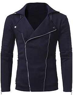 Masculino Moletom Esportes Para Noite Casual Simples Vintage Activo Sensual Sólido Estampado Patchwork Colarinho de Camisa Algodão