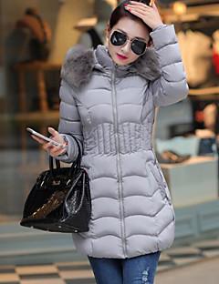 コート ダウン レディース,お出かけ ソリッド その他 ポリプロピレン-ストリートファッション 長袖