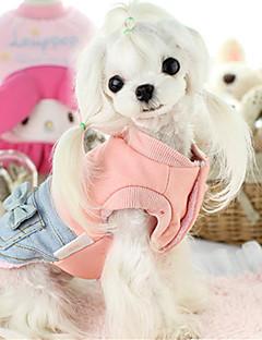 billiga Hundkläder-Hund Väst Hundkläder Rosett Rosa Cotton Ner Kostym För husdjur Ledigt/vardag