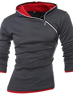 Masculino Moletom Esportes Casual Tamanhos Grandes Activo Boho Estampa Colorida Algodão Elástico Manga Longa Outono Inverno