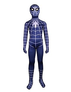 Cosplay Costumes Spider Movie Cosplay Leotard/Onesie Zentai Halloween Carnival Children's Day Kids Lycra Spandex