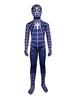 billige Zentai-Edderkopper Cosplay Kostumer Huddrag Film-Cosplay Trikot / Heldraktskostymer Zentai Halloween Karneval Barnas Dag Elastan Spandex