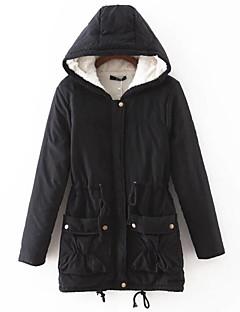 Manteau Rembourré Femme simple Décontracté / Quotidien Couleur Pleine-Coton Polyester Coton Manches Longues