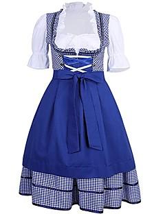 billige Halloweenkostymer-Oktoberfest Cosplay Cosplay Kostumer Kostume Dame Oktoberfest Festival / høytid Halloween-kostymer Drakter Blå Vintage
