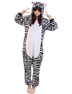 Kigurumi Pyjamas Sebra Kostume Svart hvit Flanellette Kigurumi Trikot / Heldraktskostymer Cosplay Festival / høytid Pysjamas med dyremotiv