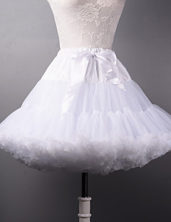 Wedding Party & Evening Halloween Bridal Shower Slips Polyester Tulle Short-Length A-Line Slip Ball Gown Slip With