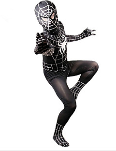 Zentai Suits Patterned Zentai Suits Cosplay Costumes Outfits Super Heroes Spider Zentai Cosplay Costumes Black Print Leotard