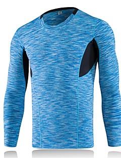 billige Løbetøj-Herre Løbe-T-shirt Langærmet Strækkende, Åndbarhed, Letvægt Sweatshirt / T-Shirt / Toppe for Træning & Fitness / Fritidssport / Basketbold