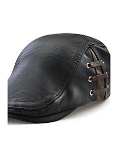 Unisex Μονόχρωμο,Καπέλο Βίντατζ Καθημερινό Καθημερινά Rezistent la Vânt Αδιάβροχη Υπαίθριο Καπέλα Καπέλα Τζόκευ Αθλήματα PU Χειμώνας Όλες