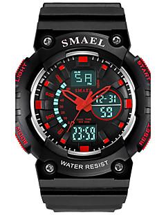 billige Børneure-SMAEL Herre Digital Armbåndsur Sportsur Kinesisk Hot Salg PU Bånd Vedhæng Mode Sort