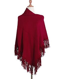 tanie Swetry damskie-Damskie Z odsłoniętymi ramionami Długi Cloak / Peleryny Jendolity kolor Bez rękawów