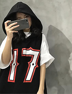Women's Casual/Daily Hoodie Letter Hooded Micro-elastic Others ½ Length Sleeve Spring
