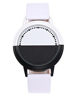 Gyermek Páros Egyedi kreatív Watch Digitális LED Érintőképernyő PU Zenekar Kreatív Fekete Fehér