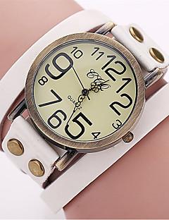 Herre Modeur Armbåndsur Unik Creative Watch Casual Ur Kinesisk Quartz Læder Bånd Vintage Afslappet Elegante Sort Hvid Blåt Rød Orange